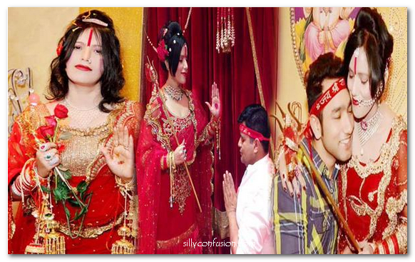 radhe maa with devotees dancing