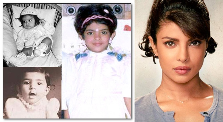 Priyanka Chopra childhood pictures