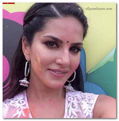 Sunny Leone Indian look face