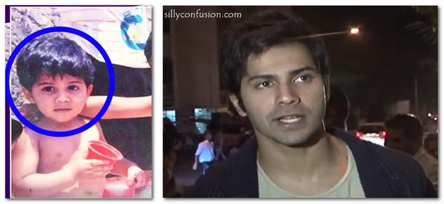 Varun Dhawan childhood pictures