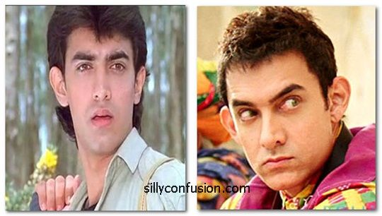 aamir khan now and then 90s
