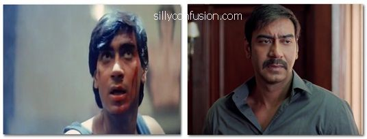 ajay devgan 90s now and then