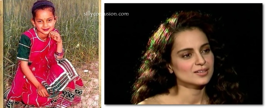 kangana ranaut childhood photo