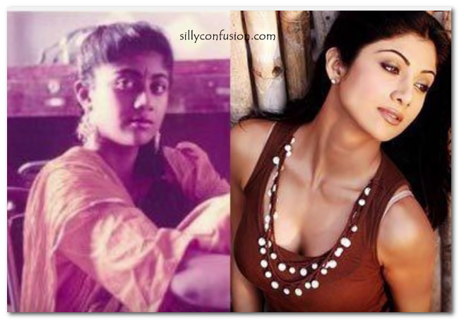 shilpa shetty childhood picture