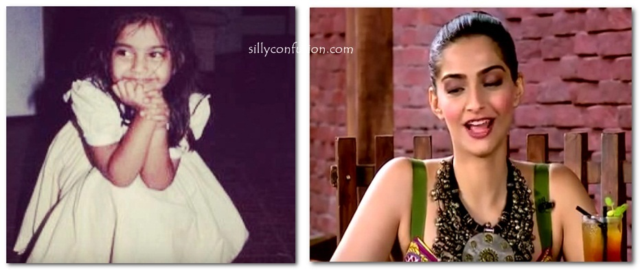 sonam kapoor childhood pictures