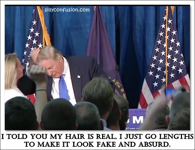 donald trump hair real fake