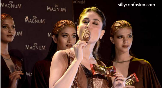 kareena kapoor magnum brownie eating