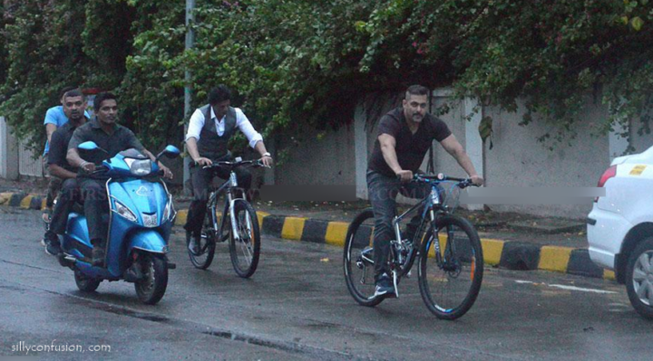 srk salman bicyclnig pictures